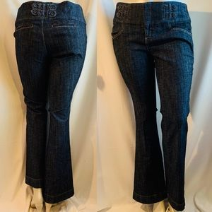 Dark Rinse Boot Cut Jeans 16w